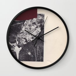 Collage vintage abstract chine-colle black and white photography Wall Clock