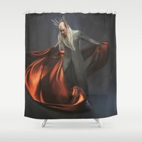 thranduil Shower Curtains featuring Elvish King by Andi Robinson