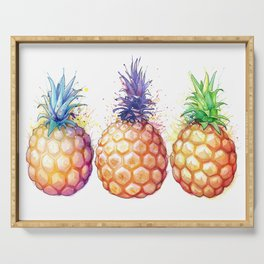 Three Pineapples Serving Tray