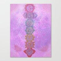chakra Canvas Prints featuring Chakra by AngelaCorrin