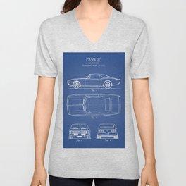 Camaro blue Unisex V-Neck