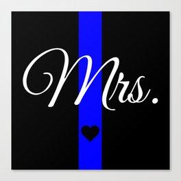 Thin Blue Line Mrs. Pillow Canvas Print