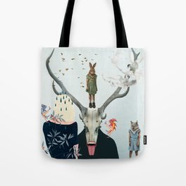 Waiting Together Alone Tote Bag
