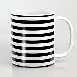 Small Black and White Stripes Pattern Coffee Mug