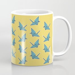 PAPER CRANES BABY BLUE AND YELLOW Coffee Mug