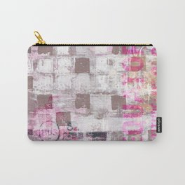 Abstract grunge Squares pating with typography Carry-All Pouch