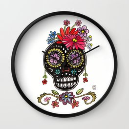 Calaca Fridita Wall Clock