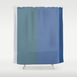 Parable to Behr Blueprint Color of the Year and Accent Colors Vertical Stripes 8 Shower Curtain