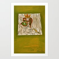 om Art Prints featuring om by Loosso