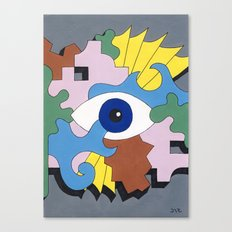Patterned Eyes | The Right Eye 2/2 Canvas Print