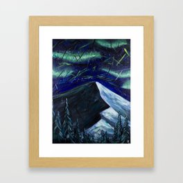 I Thought About Climbing Into the Night Sky Framed Art Print