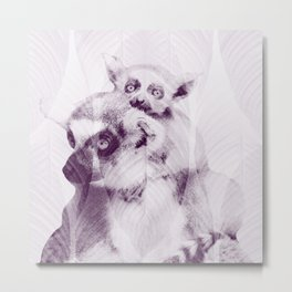 Happy Mother's Day - Lemur - maki catta Metal Print