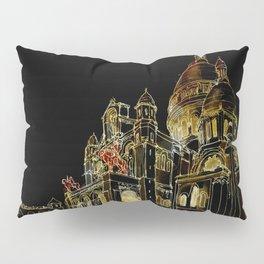 Paris Basilica Sacre Coeur at Night Pillow Sham
