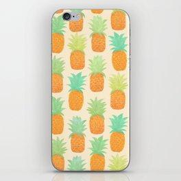 Watercolor Pineapples iPhone Skin