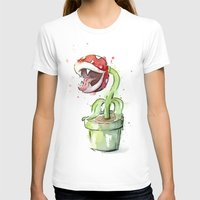 plant T-shirts featuring Piranha Plant Art by Olechka