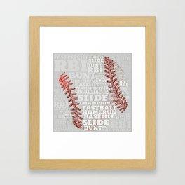Baseball Dreams and RBIs Framed Art Print