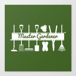 Master Gardener Simple Modern Forest Green Canvas Print