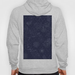 Hand drawn Floral Hoody