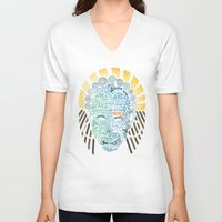 africa V-neck T-shirts featuring Africa by Filip Postolache