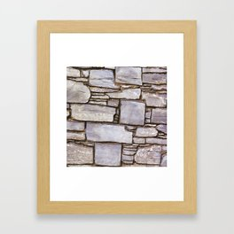 Rock Wall Framed Art Print