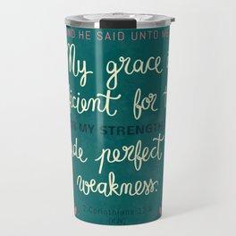 2 Corinthians12:9 Travel Mug