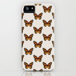 Monarch Butterfly Pattern iPhone Case