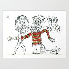 Freddy the Cougar Art Print