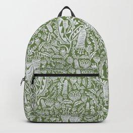 Green Folk Florals Backpack