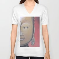 gem V-neck T-shirts featuring Zen Gem by McNallieGalleries