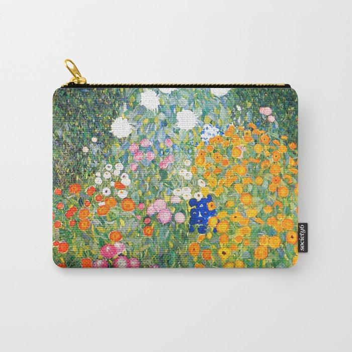 "Gustav Klimt ""Blumengarten (Flower Garden)"" Carry-All Pouch"