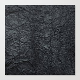 Abstract modern black gray creased paper texture Canvas Print