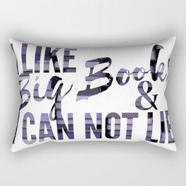 I like Big Books & Can not Lie. Rectangular Pillow