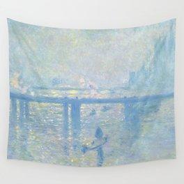 1899-Claude Monet-Charing Cross Bridge-65 x 80 Wall Tapestry