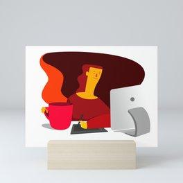 Working illustration Mini Art Print
