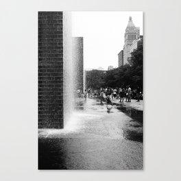 Chicago Street Scenes 2: City Splash Canvas Print