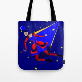 A Puppet Lady with Rose and Smile, Steampunk Style Tote Bag
