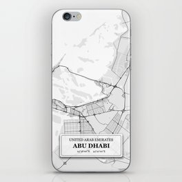 Abu Dhabi City Map with GPS Coordinates iPhone Skin