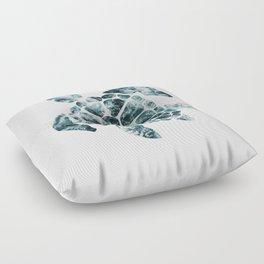 Sea Turtle - Turquoise Ocean Waves Floor Pillow