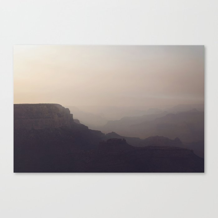 Smoky Hazy Sunset in the Grand Canyon Canvas Print