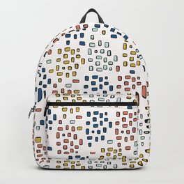 Rectangle Square Doodle Vector Pattern Seamless Primary Backpack