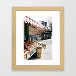 Fruitstand Framed Art Print