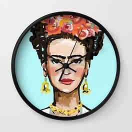 Frida Aqua Wall Clock