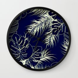 Tropical Blues Wall Clock