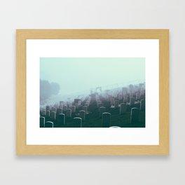 Foggy Presidio Framed Art Print