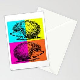 Hedgehog colourful Stationery Cards
