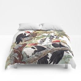 Pileated woodpecker edit, Birds of America, Audubon Plate 111 Comforters