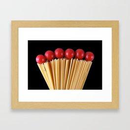Spaghetti and tomatoes Framed Art Print