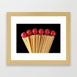 Spaghetti and tomatoes Framed Art Print