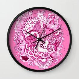 Pink Attitude Wall Clock