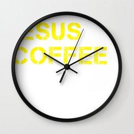 Jesus, Coffee & Kimchi Wall Clock